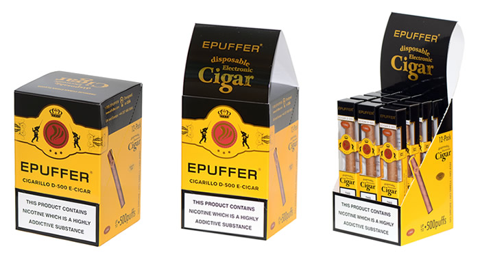 mini slim e-cigar d500 disposable