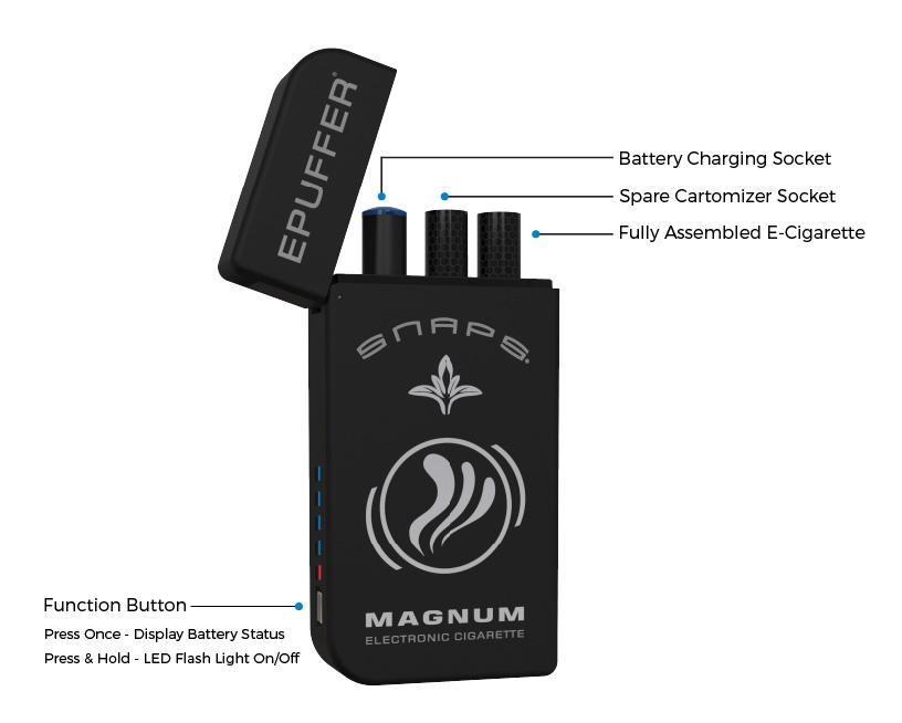 epuffer magnum snaps black ecigarette