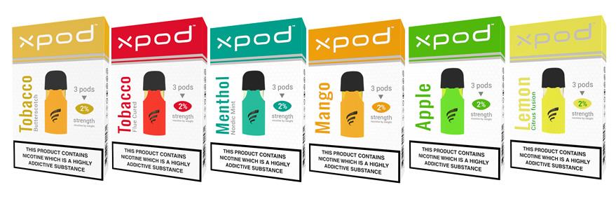new xpod prefilled pod flavors