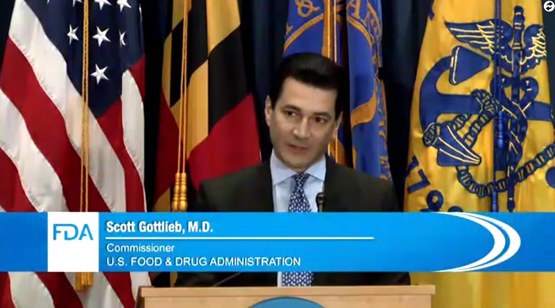 Dr. Scott Gottlieb's at FDA