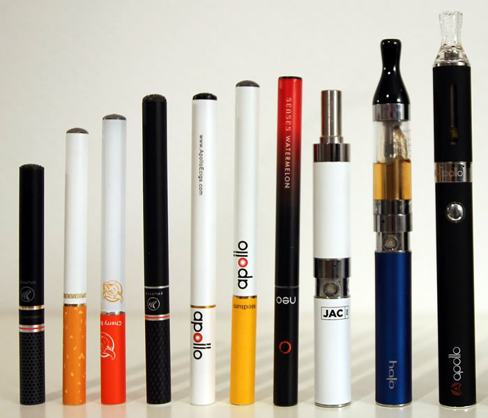 type of electronic cigarettes and vaporizers
