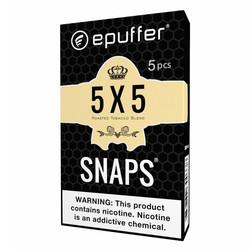 snaps ecig 5x5 tobacco cartridges black