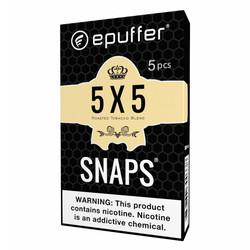 snaps ecig 5x5 tobacco cartridges black