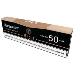 snaps coffee caramel mocha ecigarette cartridges snaps by epuffer
