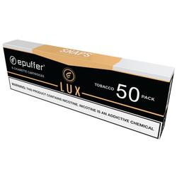 snaps ecigarette lux tobacco vape cartridges 50 pack