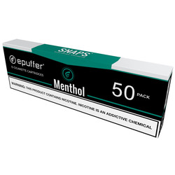 snaps ecigarette menthol flavor cartridges black 50 pack