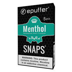 snaps menthol ecigarettes cartridges