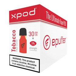 XPOD 30pack carton flue-cured virginia tobacco vape pod