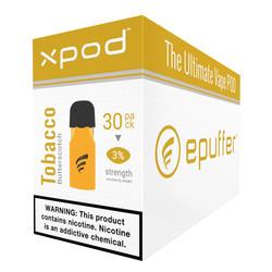 XPOD tobacco butterscotch vape pod 30-pack bulk carton
