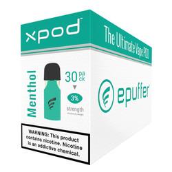XPOD menthol vape pod 30-pack bulk carton