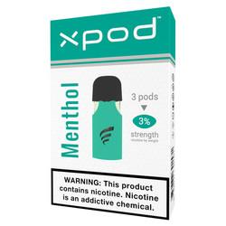 XPOD menthol cigarettes vape pod