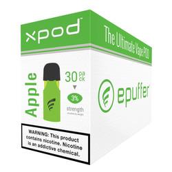 XPOD double apple vape pod 30-pack bulk carton
